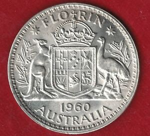 1960 Australia Two Shillings, Florin, Uncirculated