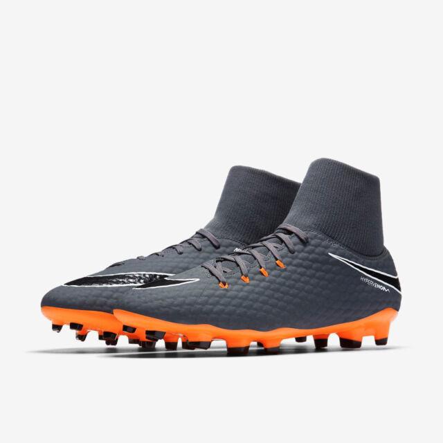 1af209564abff Nike Phantom 3 Academy DF FG Dark Grey Total Orange White Ah7268 081 Size  9.5