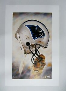 """Carolina Panthers NFL Football 20"""" x 30"""" Team Lithograph Print by Kelly Russell"""
