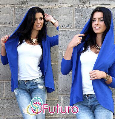 Stylish Women's Coat with Hood & Pocket Jacket Style Poncho One Size FA219