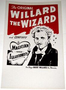 Original-Willard-The-Wizard-Poster-Window-Card