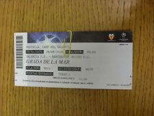 29/09/2010 Ticket: Valencia v Manchester United [Champions League] (slight creas