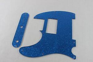 control plate set Fender Tele Telecaster Blue Mirror Humbucking pickguard