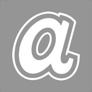 Atlanta Braves 6 Mlb Team Logo 1 Color Vinyl Decal