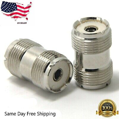 NEW 10 pack UHF SO-239 female to female coupler RF adapters *USA Seller*