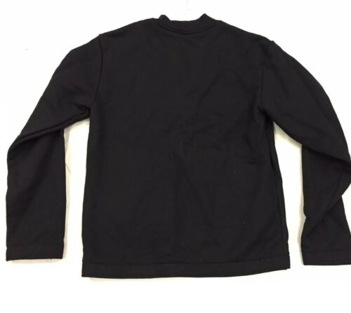 American Apparel Heavy Terry HVT Half Zip Crewneck Pullover Sweatshirt Black S