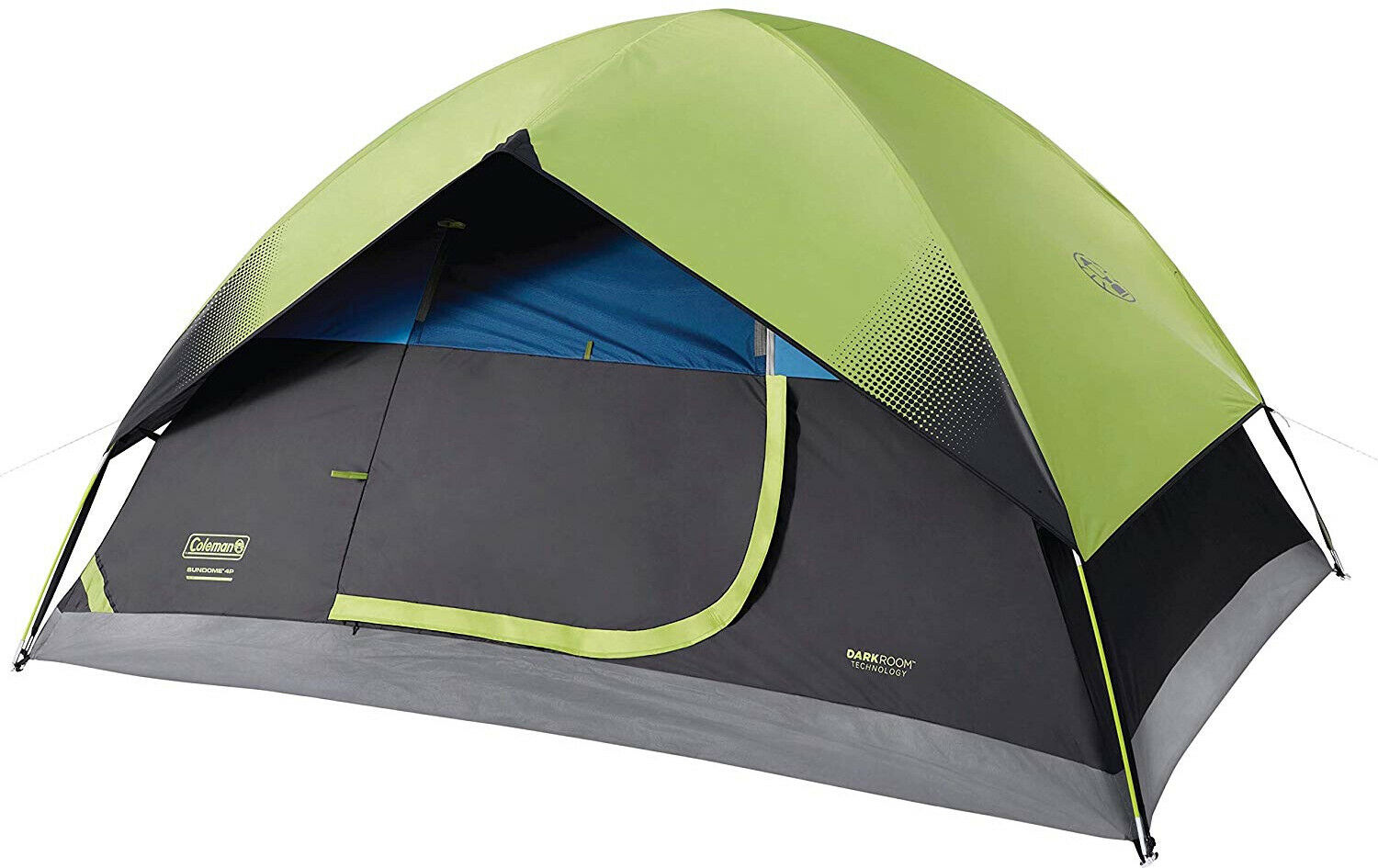 Coleman DarkRoom Dome Tent Sundome Camping 4 Person Family Waterproof Easy Setup