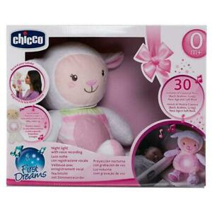Chicco Primi Sogni Ninna Nanna pecore Baby Luce Notturna (Rosa)