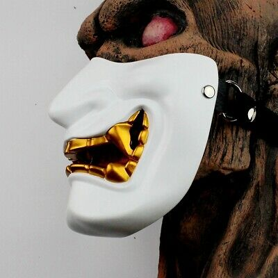 PVC Japanese Hannya Noh Full Face Mask Halloween Cosplay Horror Mask #S5