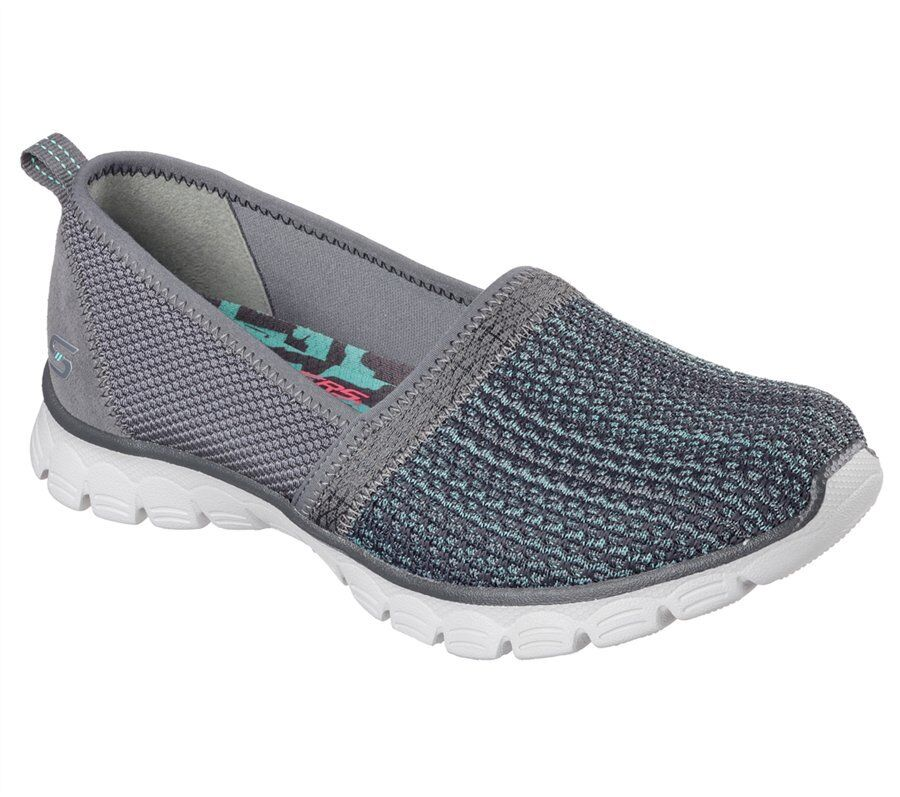 SKECHERS EZ FLEX 3.0 BIG MONEY femmes Memory Foam Slip On Charcoal 23400 NEW