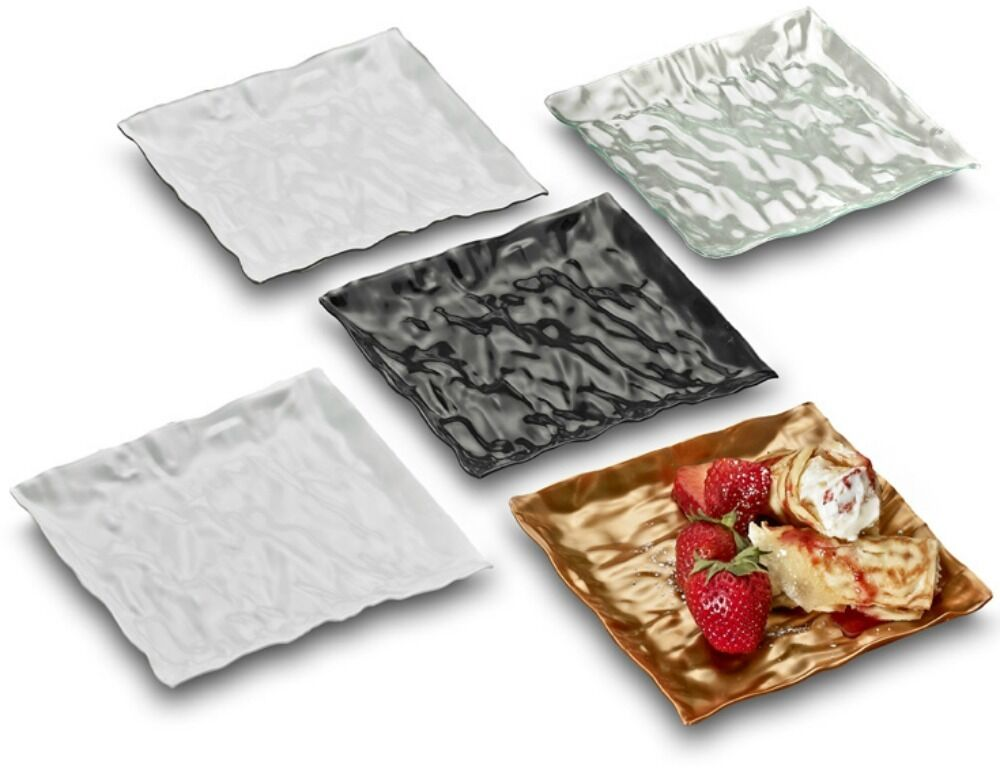 120 6.25  Square Dessert Plates Unique Disposable Plastic Plates Cake Plate