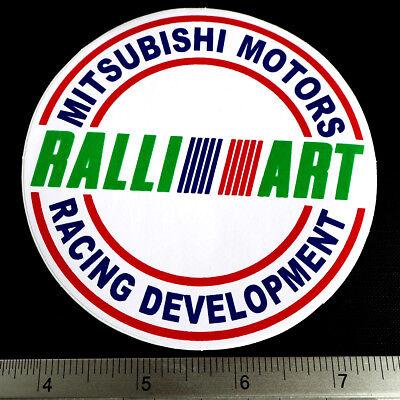 "MITSUBISHI RALLIART CAR Sticker Non Reflective Light Decal 2.75x2.75/"" Blue"