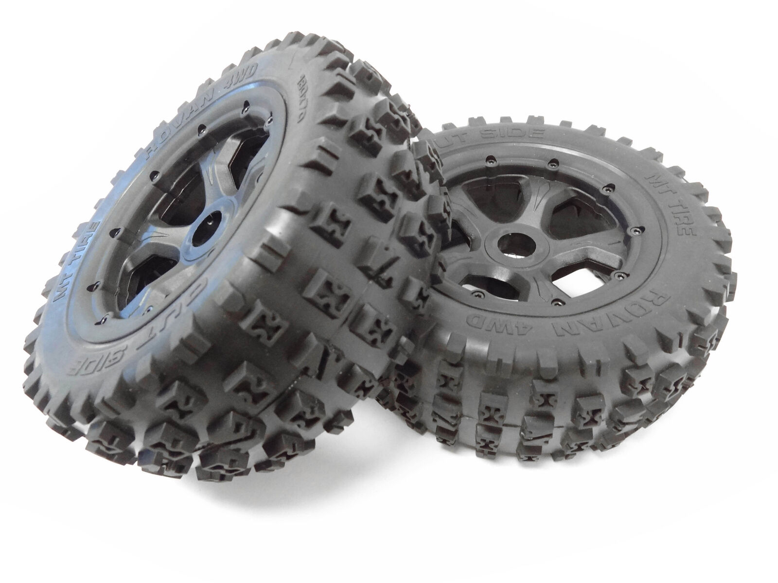 Rovan LT 1/5 GEN 3 MT Boe-Tie Dirt Knobby Tires/Wheels 180x70 LOSI 5IVE-T DBXL