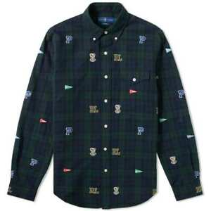 430d6058 Image is loading Ralph-Lauren-Polo-Blackwatch-Tartan-Embroidered-Pennant -Bulldog-