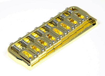 hipshot 41080g 8 string hardtail fixed electric guitar bridge 125 gold 825282486003 ebay. Black Bedroom Furniture Sets. Home Design Ideas