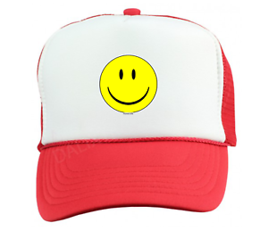 1135581317bbf Trucker Hat Cap Foam Mesh Smiley Face Smile Happy