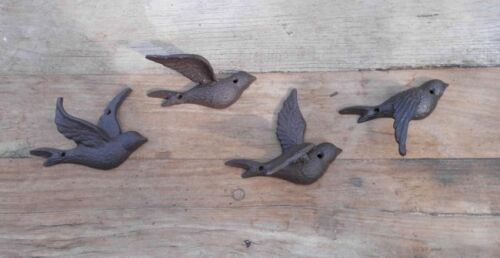 Versand Wanddekoration Wandobjekt 4 fliegende Schwalben Vögel Gusseisen inkl