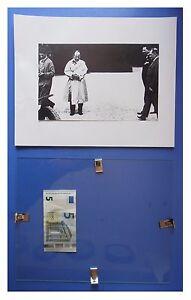 Benito-Mussolini-bianco-corsa-automobile-duce-fascismo-quadro-cornice-vetro