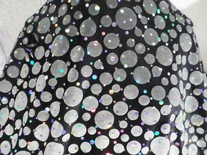 1-yd-printed-velvet-holo-fabric-good-weight-4-way-spandex-lycra-MADE-USA-J4711