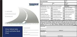 drivers daily duplicate defect check book 20 pages van 2 6t
