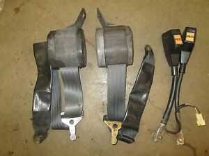 Original Mgb Mg Midget Seat Belt Set Ebay