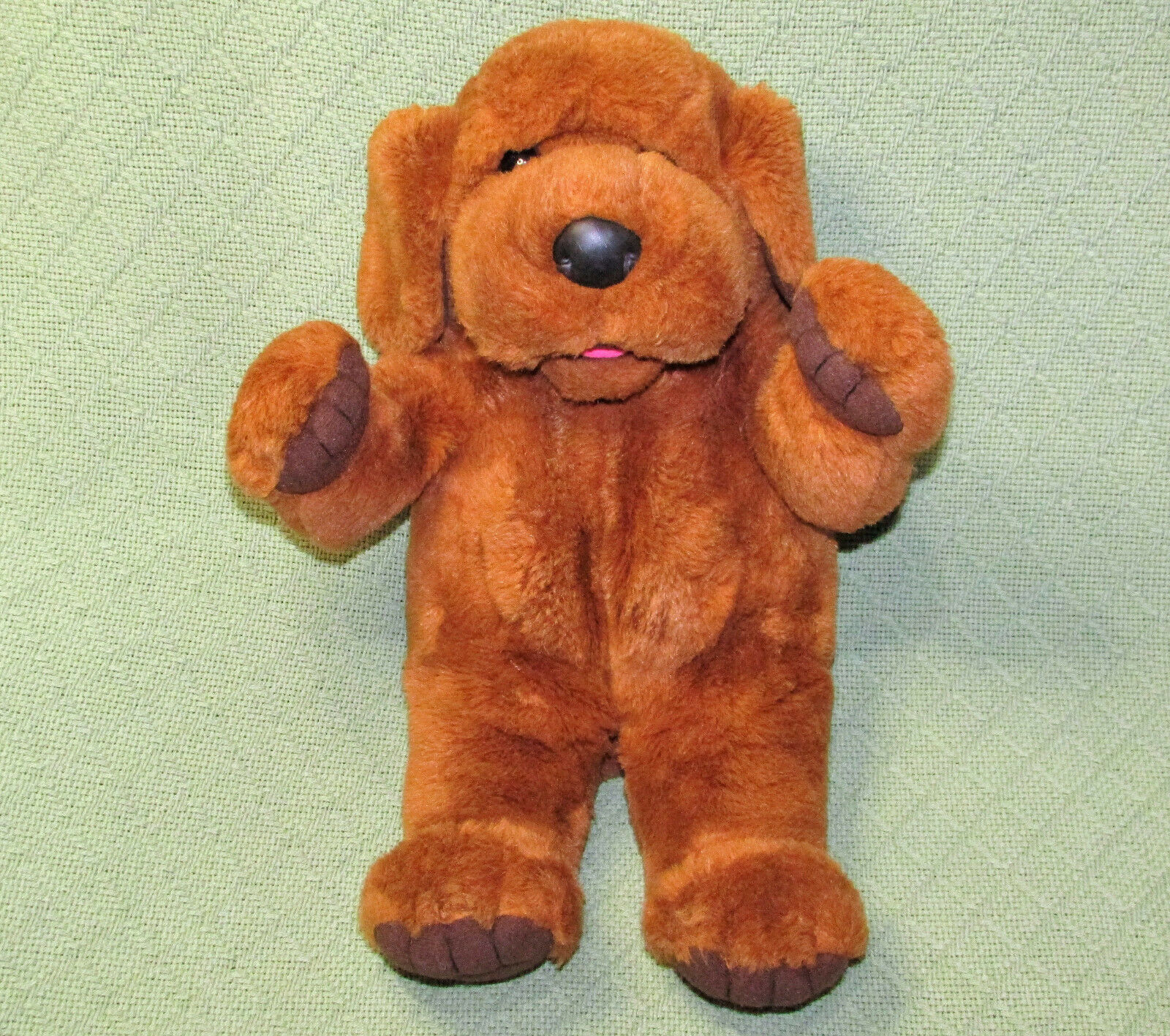 16  24K PLAY TALKIN Hand Puppet Special Effects VINTAGE 1998 BAXTER DOG Plush
