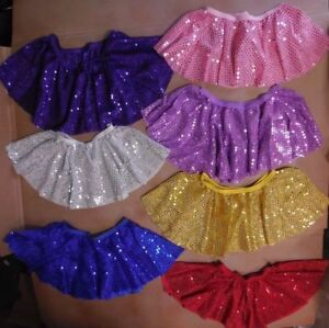 NWT-Many-Colors-faux-SEQUIN-SWING-SKIRT-CHILD-SIZES-TAP-DANCE-PULL-UP