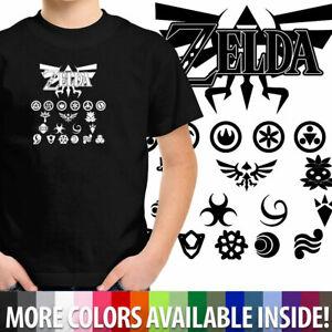 Legend of Zelda Triforce w/Goddess Symbols Gift Shirt Boy