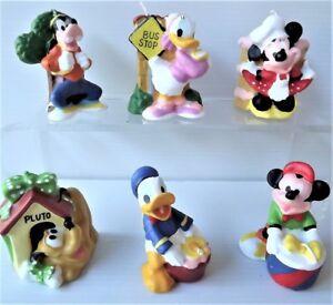Lot 6 Bougies Disney Mickey / Minnie / Donald ... Anniversaire - NEUVE