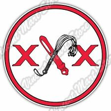 XXX Adult Sex Toys Whip Dildo Domination Car Bumper Vinyl Sticker Decal 4.6""