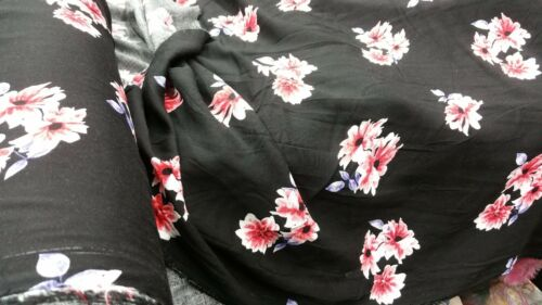 """new*top quality Soft/&flowy viscose nice small//medium floral print fabric 58/""""wide"""