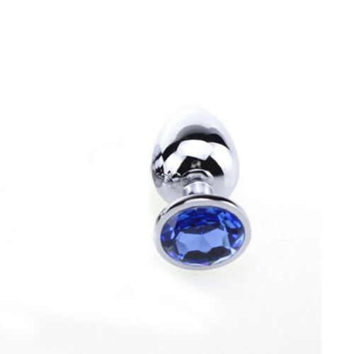 One Size 11 Colors Beginner Plug Anal Stainless Steel Jeweled Butt Suction Cups