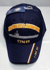 USS Dwight D Eisenhower CVN 69 Ball Cap Embroidered US Navy Veteran Carrier Hat