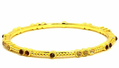 Practical Modeschmuck Armreif Mit Strass Braun Goldfarben 0,4cm Products Are Sold Without Limitations Fashion Jewelry Wristbands