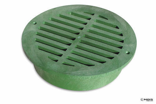 "12/"" Green Round Plastic Channel Grate Catch Basin Garden Landscape Drainage"