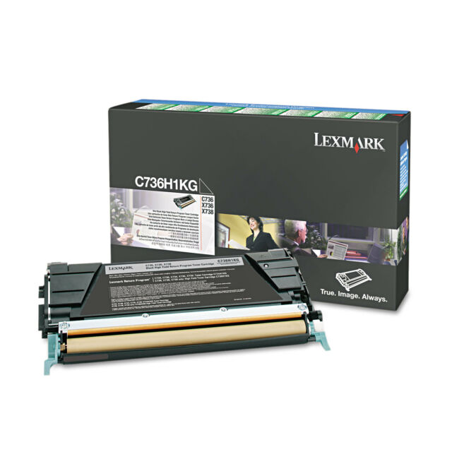Lexmark Genuine C736H1KG BLACK H/Yield Toner For C736 X736 X738 - 12,000 Pages