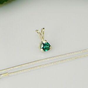 5mm-Trillion-Paraiba-Topaz-Sterling-Silver-Pendant-w-Chain-Necklace