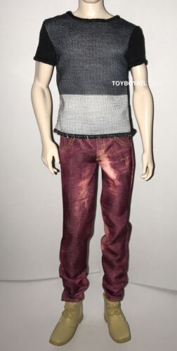 Barbie Fashionista Ken Doll Outfit Model 6 Color Blocked Cool Shirt /& Jeans NEW