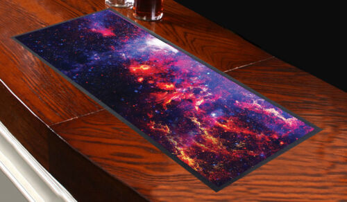 GALAXY 1 DESIGN BAR RUNNER L/&S PRINTS PURPLE PINK IDEAL FOR PARTIES PUBS CLUBS