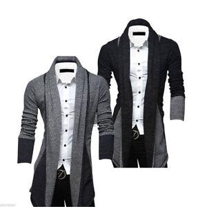 Men-039-s-Casual-Slim-Fit-Knit-Cardigan-Stylish-Sweater-Coat-Jacket-Tops-Knitwear