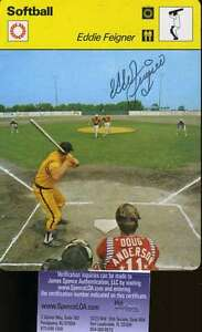 Eddie-Feigner-Softball-Signed-1978-Sportscaster-Jsa-Cert-Authenticated-Autograp