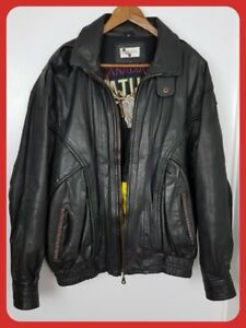 Details about Mens Canadian Nature Real Leather Jacket Black Size Medium