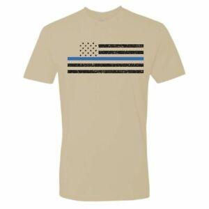 NEW Sig Sauer Distressed Thin Blue Line Flag Sand T-Shirt Size XX Large XXL 2XL