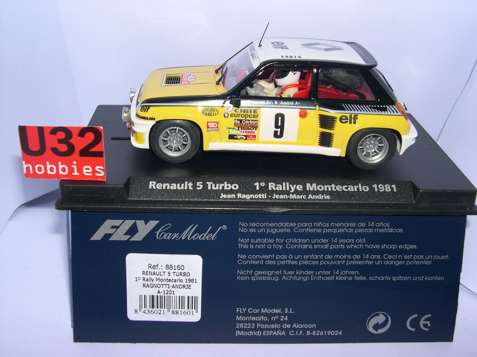 FLY 88160 A-1201 RENAULT 5 TURBO ºRALLY MONTE CARLO '81 RAGNOTTI ANDRIE MB