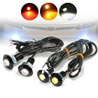 Pair Car Motor 3W LED Eagle Eye Red Yellow Light Daytime Running DRL Tail Backup