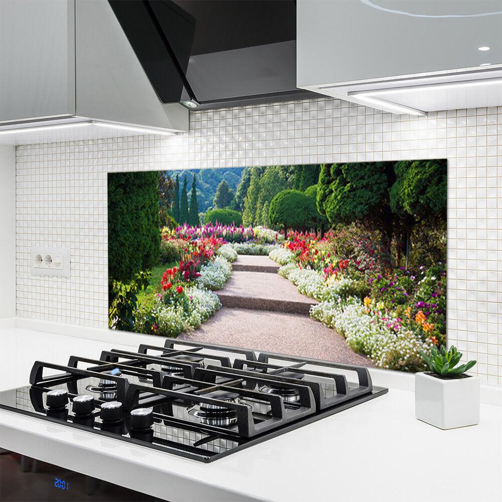 Crédence de cuisine en verre Panneau 120x60 Nature Escaliers Jardin