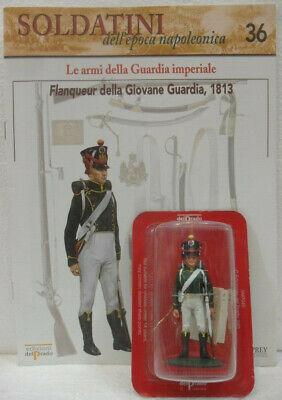 """Ambizioso Soldatini Napoleonici In Piombo """"flanqueur Della Giovane Guardia, 1813"""" C/fascic"""