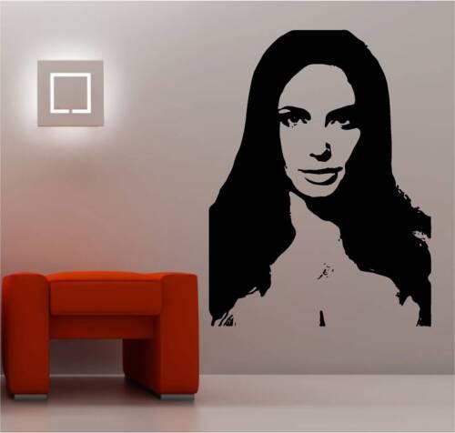 Superbe angelina jolie Image Mur Art Autocollant Vinyle