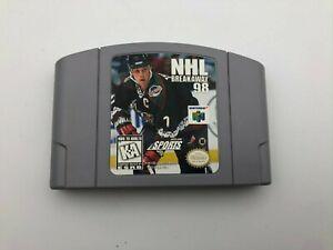 NHL-Breakaway-98-Nintendo-64-1998-N64-Video-Game-Cartridge-Tested-Hockey