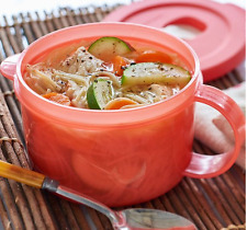 Tupperware Crystalwave Microwave Safe Soup Mug w/ Handle 16-oz Guava New